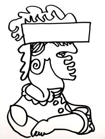 Lithograph Lapicque - Soldat