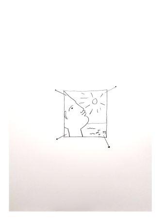 Lithograph Cocteau - Soleil