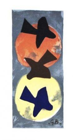 Lithograph Braque - Soleil et lune 1