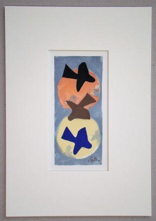 Lithograph Braque (After) - Soleil et Lune I.