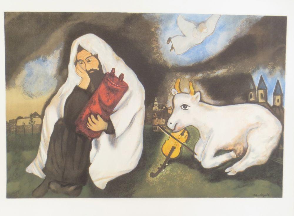 Lithograph Chagall -  solitude