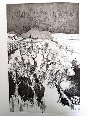 Lithograph Jansem - Solitude