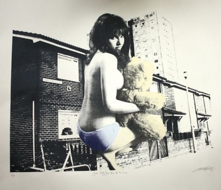 Screenprint Hardacre - Some Teddy Bears Have All the Luck