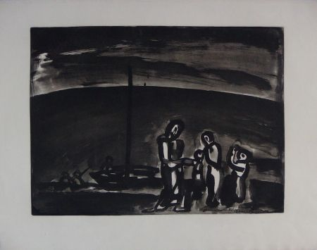 Etching And Aquatint Rouault - Sometimes the way is beautiful