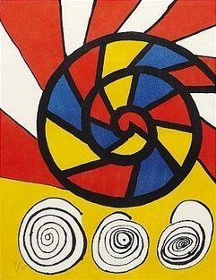 Lithograph Calder - Sonet