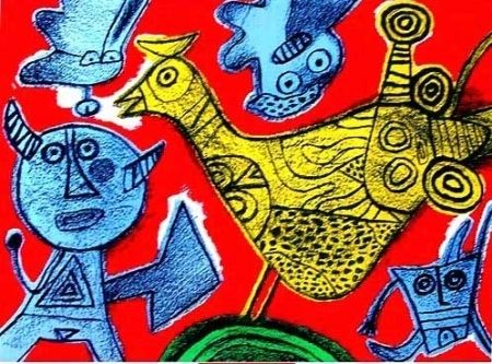 Lithograph Corneille - Songe du diable