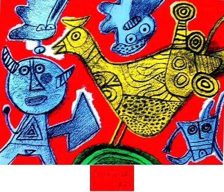 Lithograph Corneille - Songes du diable
