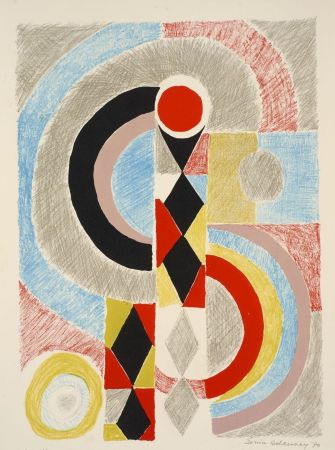 Lithograph Delaunay - Sonia Delaunay (1885-1979). Totem. Lithographie signée. 1970.