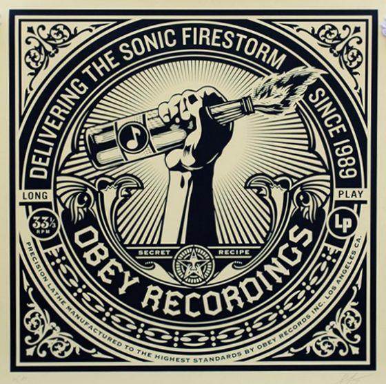 Screenprint Fairey - Sonic Firestorm