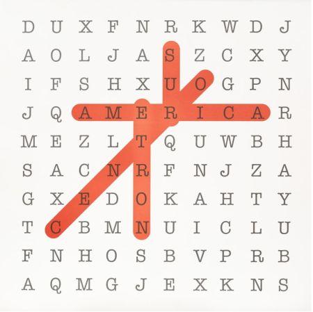 Lithograph Navarro - Sopa de letras