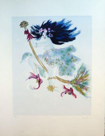 Lithograph Fini - Sorcière Bleue