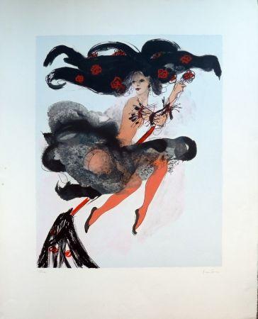 Lithograph Fini - Sorcière Rouge
