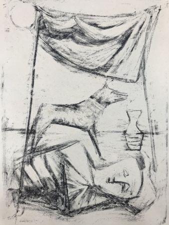 Lithograph Campigli - SOTTO LA TENDA