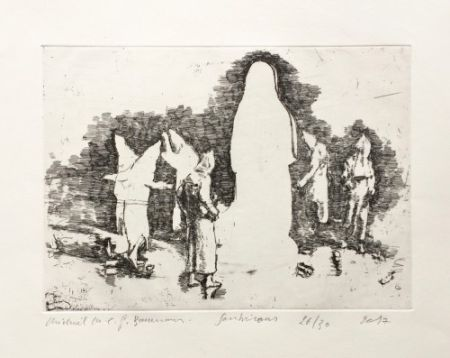 Etching Borremans - Soubirous