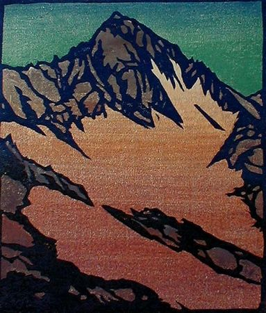 Woodcut Rice - Source of the Glacier