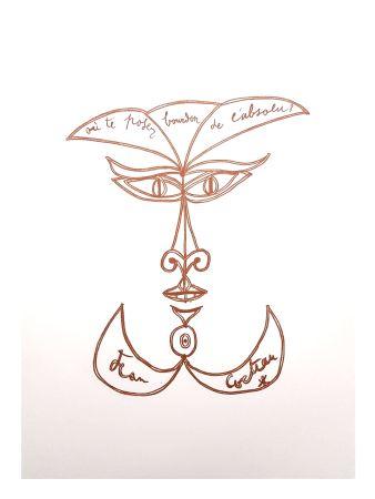 Lithograph Cocteau - Sourire Surréaliste