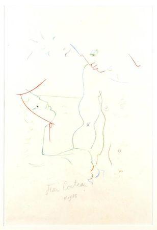 Lithograph Cocteau - Sous le soleil de Menton