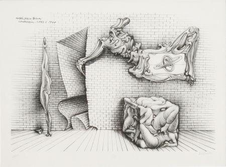 Lithograph Bellmer - Souterrain No. 13