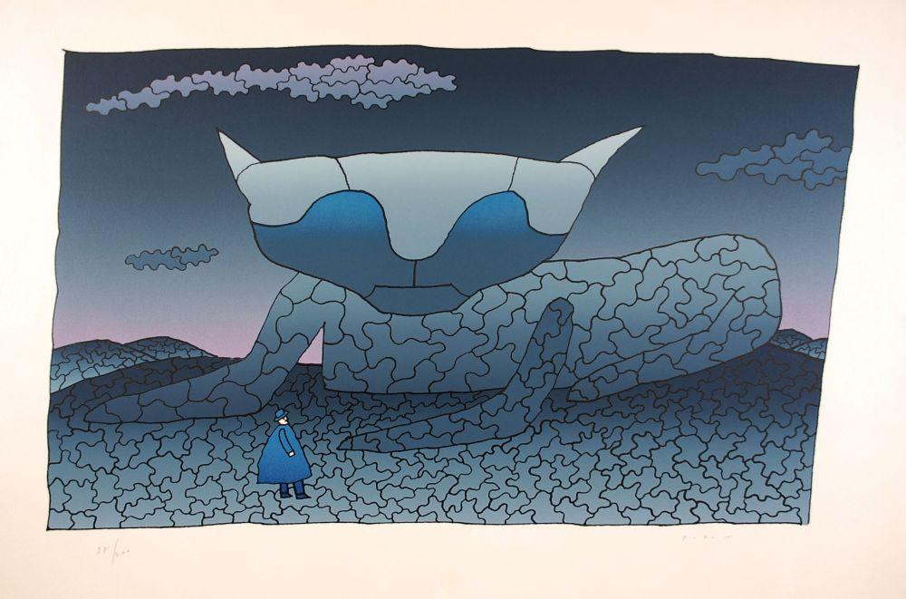 Screenprint Folon - Souvenir d'Alice