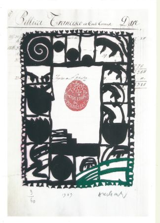 Etching Alechinsky - Souvenir de Bruxelles