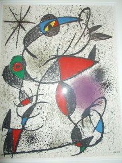 Lithograph Miró - Souvenirs et portraits d'artistes
