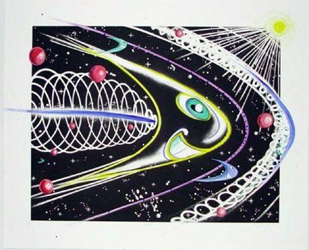 Etching Scharf - Space Traveler