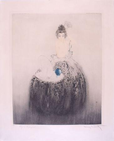Engraving Icart - Spanish Comb (Blue vanity) - Peigne Espagnol
