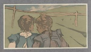 Woodcut Wenzel - Spaziergang / Taking a Walk