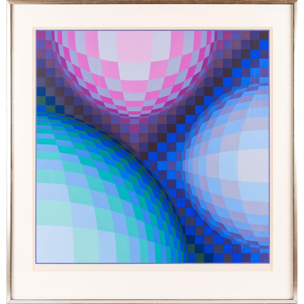 Screenprint Vasarely - Spheres