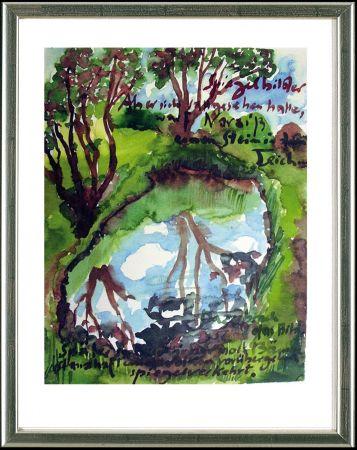 Lithograph Grass - Spiegelbilder