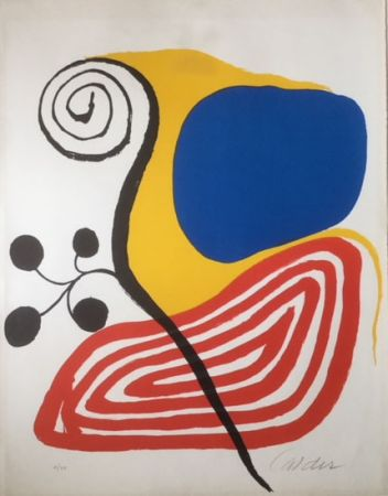 Lithograph Calder - Spiral Composition