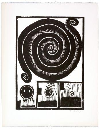 Woodcut Alechinsky - Spirale I