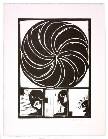 Woodcut Alechinsky - Spirale II