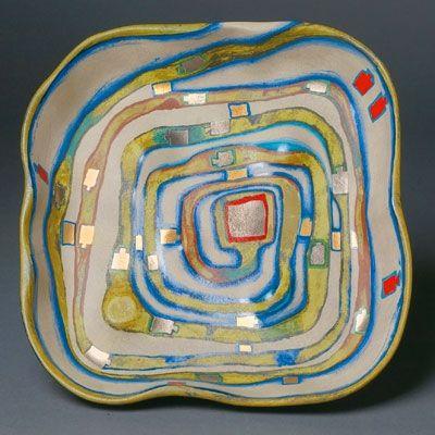 Screenprint Hundertwasser - Spiralental