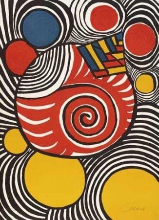 Lithograph Calder - Spirales et pyramides