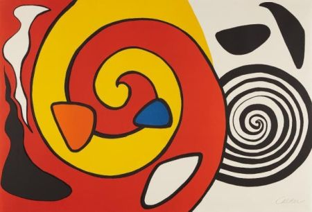 Lithograph Calder - Spirals and Forms