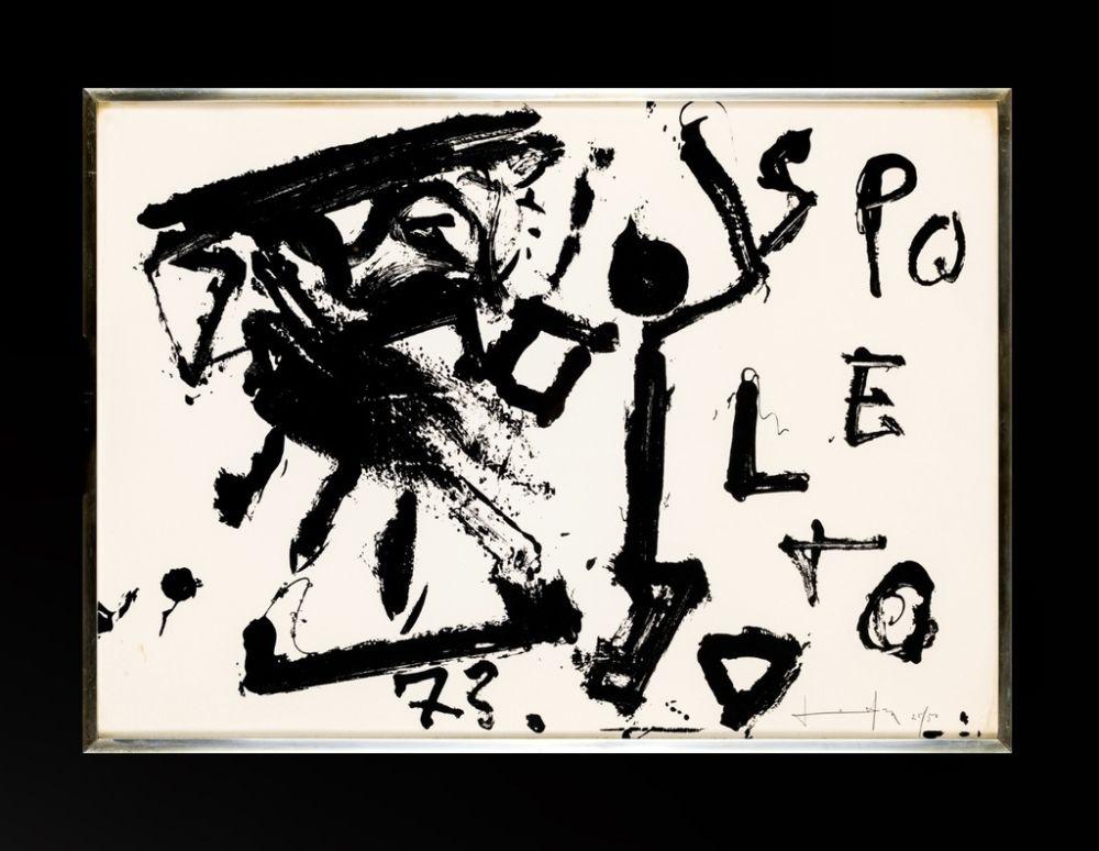 Lithograph Vedova - Spoleto 73