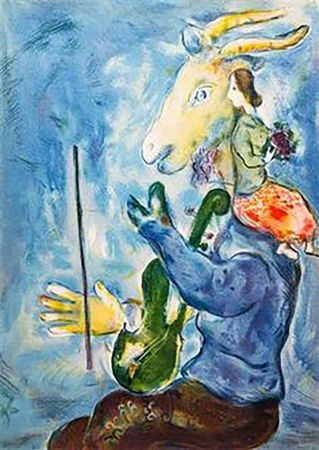 Lithograph Chagall - Spring