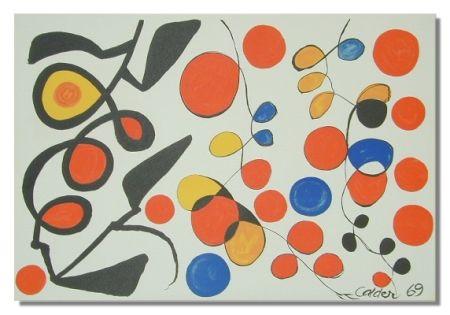 Lithograph Calder - Spring Carnival