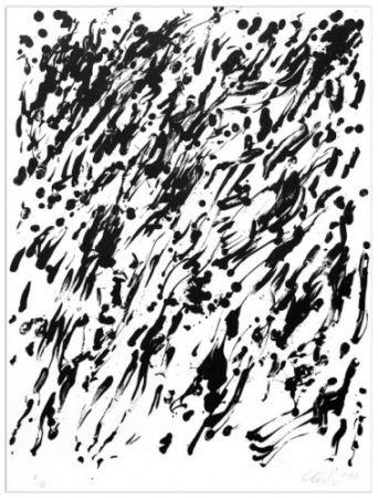 Lithograph Uecker - Spring I