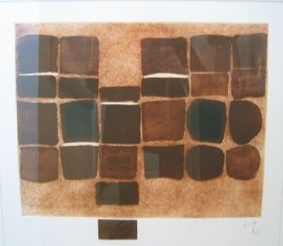 Etching And Aquatint Pasmore - Square Development 1953 - 75