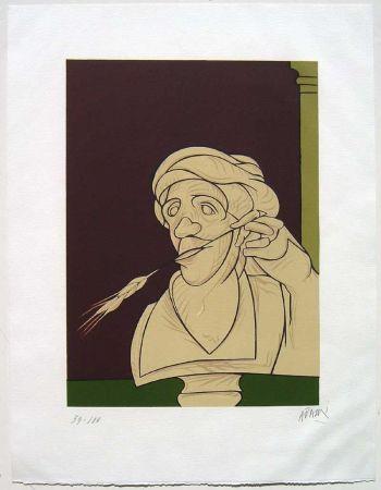 Lithograph Adami - Stèle