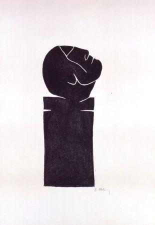 Lithograph Ubac - Stèle tête levée