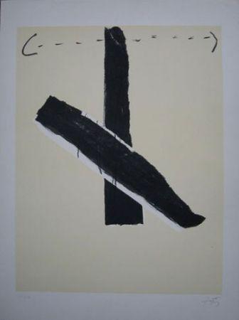Lithograph Tàpies - S/T