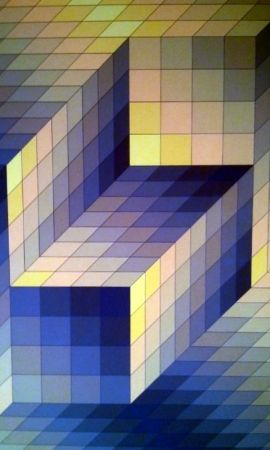 Lithograph Vasarely - S/T