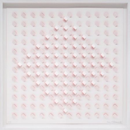 Lithograph Tomasello - S/T 1 - Rosa