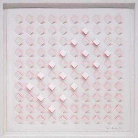 Lithograph Tomasello - S/T 4 - Rosa