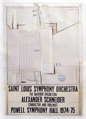 Lithograph Steinberg - St. Louis Symphony Orchestra