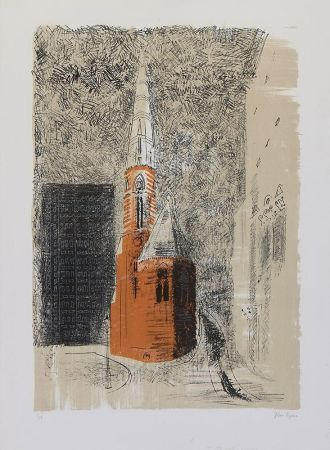 Lithograph Piper - St Mary's Paddington