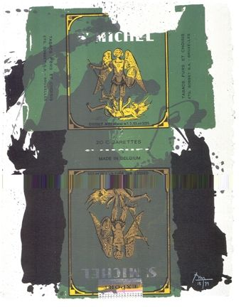 Lithograph Motherwell - St. Michael III
